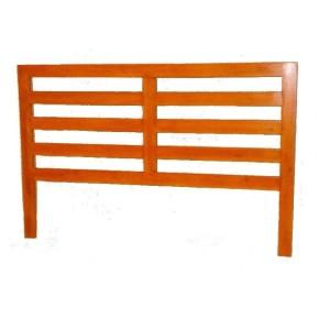 Cabezal de cama 110x168 cm madera maciza color Cerezo